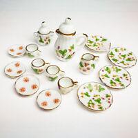 4pcs 1//12 Dollhouse Miniature White Round Dishes Plate Tableware Kitchen Toy BH