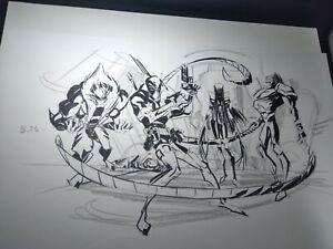 Hulk Versus Wolverine Marvel Animation Concept Art WEAPON X Frank PAUR / MATSUDA