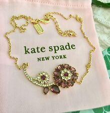KATE SPADE NEW YORK TRELLIS BLOOMS COLLAR NECKLACE NEW
