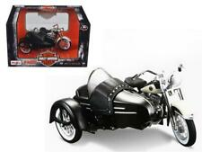 1958 Harley Davidson FLH DUO Glide with Side Car Black with White 1/18 Diecast M