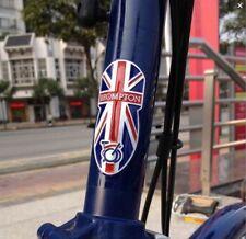 Métallique Head Tube Badge Pour Brompton Union Jack Ex-demo Discounted vente