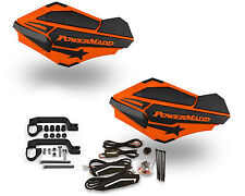Powermadd Sentinel LED Handguards Guards Orange Black Mount Kit All Sport ATV's