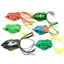 New 6pcs Lot Frog Fishing Lure Soft Plastic Bait Bass Snakehead Tackle 5.5cm/14g