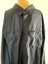 Columbia Men's Vented Shirt Blue Turquoise Button Up Shirt XL Outdoors Hunting