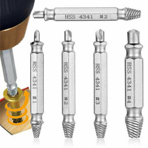 6pc Screw Extractor Easy Out Drill Bits Bolt Set Damaged Broken Stripped Remover