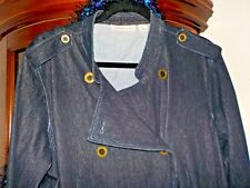 COLDWATER CREEK LADIES STRETCH SOFT DENIM jacket 1X free scarf & gloves!