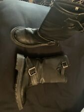 Demonia Tall Boots Size 8, Black Top Buckle Hot Topic