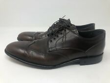 John Varvatos Brown Leather Wingtip Dress Shoes Men's Size 8 Made in Italy