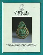 CHRISTIE'S AMSTERDAM INDIA INDONESIA KHMER TEXTILE SCULPTURE BUDDHA Catalog 1988