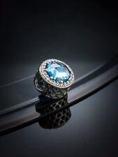 Genuine Pandora S925 Ale Sky Blue Radiant Hearts Charm-791725NBS