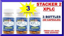 Stacker 2 XPLC 20 Capsules /Bottle (USA) Herbal Dietary Supple (Lot of 3 X) = 60