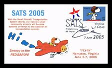 US COVER SNOOPY AS RED BARON PEANUTS COMICS SMALL AIRCRAFT SATS EVENTS