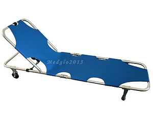Aluminum Folding Stretcher Portable Medical Stretcher The Front Can Rise Up