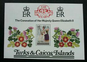 [SJ] Turks & Caicos 25th Anni Coronation 1978 Queen Elizabeth II Royal (ms) MNH