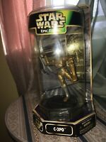 New Star Wars Epic Force Rotating C-3PO Action Figure Sealed Kenner 1997
