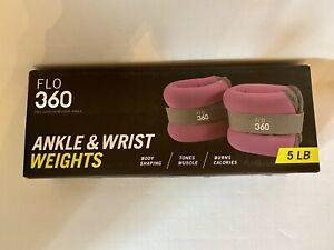 Flo 360 Adjustable Exercise Ankle & Wrist Weights 5 LB (2.5 LBS Each)