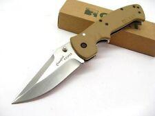 Couteau Crkt Crawford Kasper Acier 8Cr14MoV Manche Zytel Desert Tan CR6773D