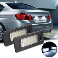 2x LED License Number Plate Light Lamp Bulb For BMW 1 3 5 Series E39 E60 E90 E92