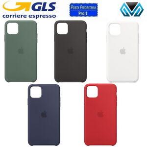 APPLE CUSTODIA COVER PER IPHONE X XS XR 11 12 PRO MAX SILICONE ORIGINALE