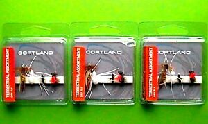 3 Packs Courtland Dry Fly Terrestrial Assortment 4 Count Package 709331