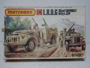 MATCHBOX 1:76 SCALE WW2 ARMY VEHICLES - LRDG & 30CWT WILLY'S JEEP - BOXED
