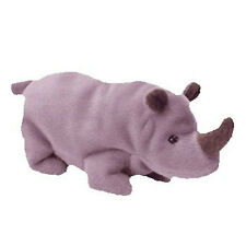 Ty Beanie Baby - Spike the Rhino (7 inch) Mint With All Tags 1996