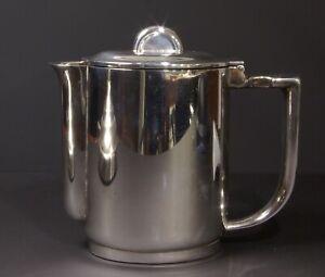 Krupp / Berndorf: Kaffee- / Teekanne 30 cl. - Hotelsilber - Art Deco