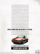 Publicité Advertising 1995 Citroen Xantia Activa