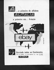 ALITALIA 1958 RIO DE JANEIRO TO ROMA/MILAN DC-7 PORTUGUESE AD