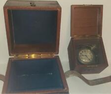 VINTAGE ZENITH SHIPS CHRONOMETER CLOCK W/ BOTH BOXES-GIMBLE-US NAVY-1950S-RARE!
