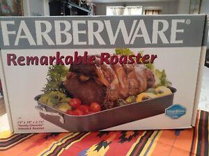 Farberware Remarkable Roaster Silverstone Non-stick 15x10 Never Used Open Box
