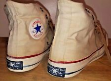 Vintage 1960s ALL STAR Blue Label Converse Chuck Taylor 8.5 High Tops Shoes