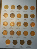 1859-1909 Indian Head Penny Cent Collection Whitman Folder With 33 Coins