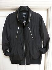 Mens FOREVER 21 Black Bomber Jacket Size Small