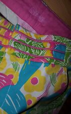 Womens Lilly Pulizter Bermuda shorts parrot size 0 NEW cotton yellow main line