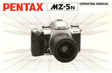 PENTAX MZ-5N SLR 35mm CAMERA OWNERS INSTRUCTION MANUAL -PENTAX MZ5n-from 1990s