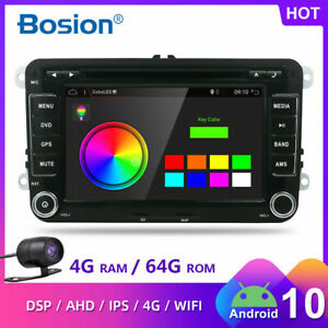 DSP+Camera Android 10 Car Stereo For VW GOLF PASSAT CADDY DVD CD 4G BT USB WIFI