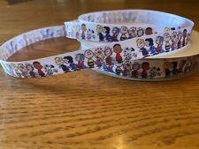 "5/8"" Snoopy Peanuts Friends Grosgrain ribbon Usa 10 Yards 16mm"