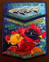 OA EGWA TAWA DEE LODGE 129 ATLANTA AREA GA 2018 NOAC SHARK 2-PATCH MYLAR 50 MADE