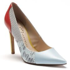 Rock & Republic Women's Blue Patchwork Heels Shoes