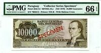 MONEY PARAGUAY 10 000 GUARANIES ND 1979 SPECIMEN  PICK #204 CS1 VALUE $1000