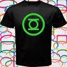 GREEN LANTERN Logo Comic Superhero Cool Men's Black T-Shirt Size S to 3XL