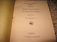 1943 USGS PP 197 D ~ BASIN & RANGE PROVINCE UTAH / NEVADA / CALIFORNIA ~ PLATES