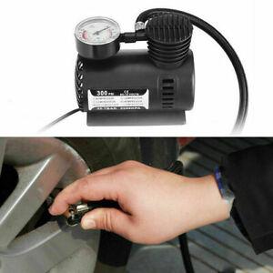 12V Electric Car Tyre Inflator Pump Analog Portable Tyre Air Compressor Pump UK
