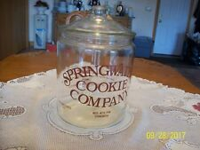 Springwater Cookie Company Large 2 Gallon Clear Vintage Glass Cookie Jar