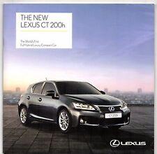 Lexus CT 200h 2011 UK Market Sales Brochure SE-I SE-L Premier