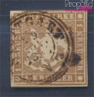 Württemberg 6a fein (B-Qualität) gestempelt 1857 Wappen (8496999