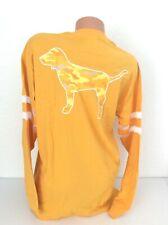 NEW! Victoria's Secret PINK Yellow Camo Mesh Dog Long Sleeve Campus Tee Shirt M