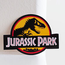 "#1498 Retro Jurassic Park Japan Imports waterproof 8cm 3"" phone DECAL STICKER"