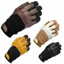 Women's Leather Summer Vented Motorcycle Gloves